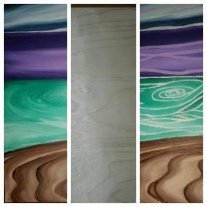 paint on wood grain