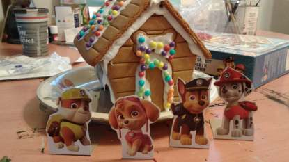 paw patrol gingerbread house