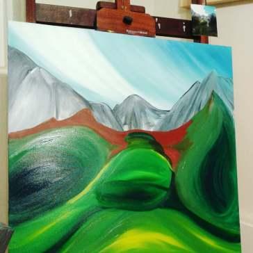painting has begun