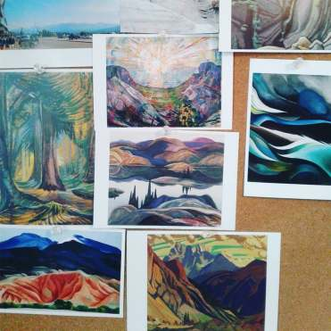 bright postcards