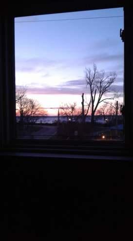 sunrise from window