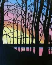sunrise over rice lake